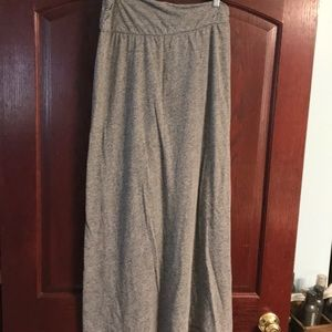 Anthropologie heather grey maxi skirt